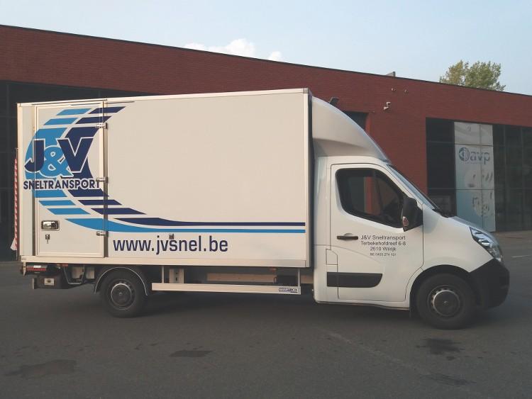 J & V Sneltransport Wilrijk Nationaal transport Internationaal transport